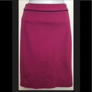 BODEN Pencil Skirt Knit Stretch Pink Fushia